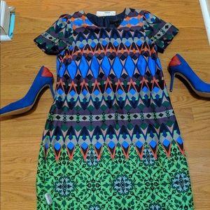 J Crew multi colored dress